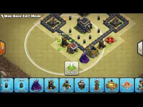 The strongest war base: Base war TH 9 terkuat (replay attact) Februari 2017 - tipe 33