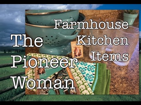 The Pioneer Woman FarmHouse Decor Ranch Style Kitchen Haul | Ree Drummond Line | The Green Notebook