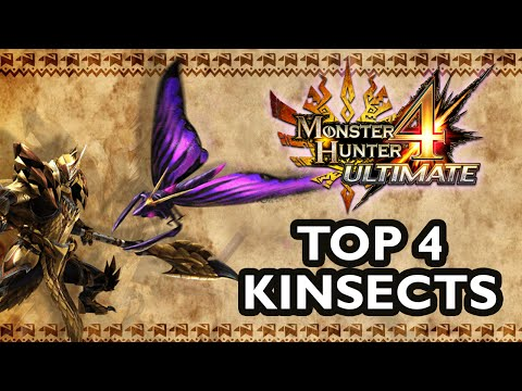 MH4U: Top 4 Kinsect Types + Upgrading Guide [ENG]