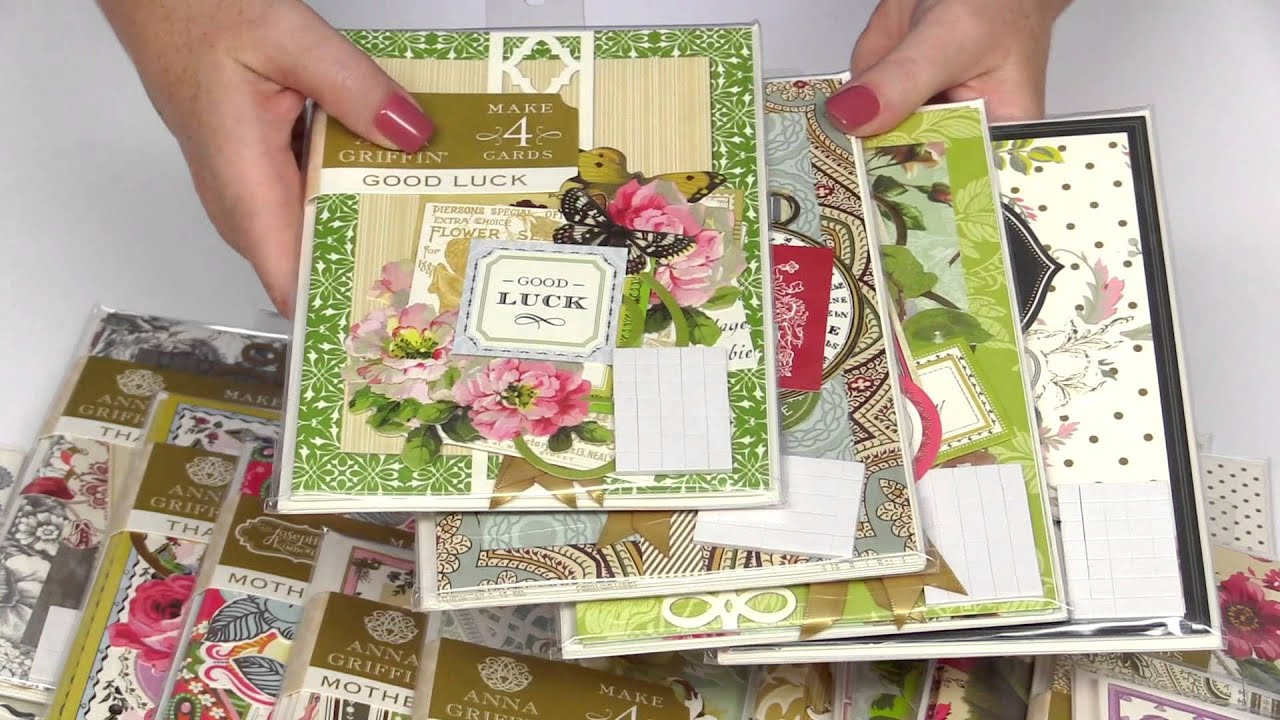 Anna Griffin Card Kits YouTube