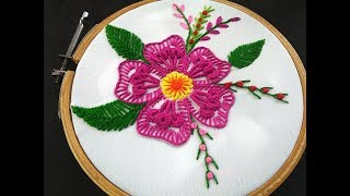 Baixar Hand Embroidery | Fantasy Flower Stitch | Brazilian Flower Embroidery |Brazilian Embroidery Tutorial