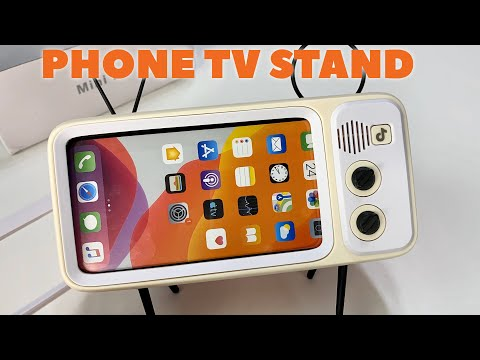 Novelty Retro Tv Mobile Phone Display Stand Review Youtube