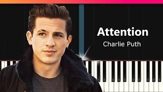 Attention Charlie Puth piano tutorial