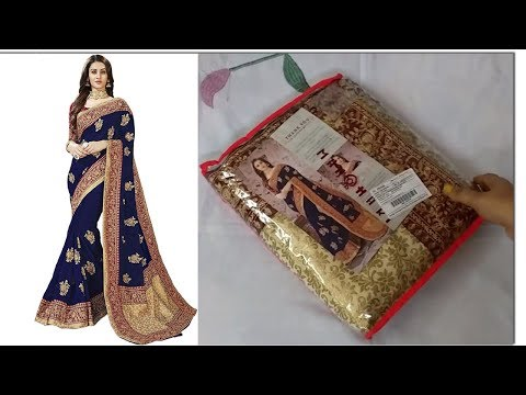 Partyware embroidery saree review 2019 | Amazon saree  review