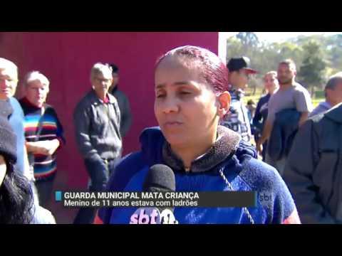 SBT Brasil (27/06/16) Guarda municipal mata criança de 11 anos que estava com ladrões