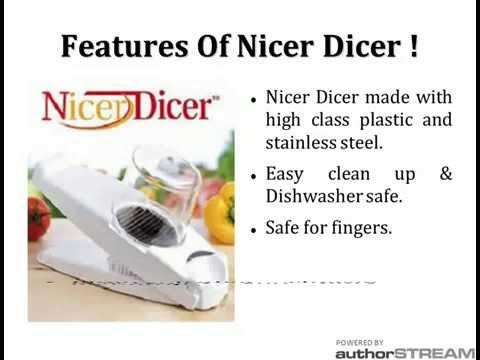 Nicer Dicer - Genius Kitchen Appliances Nicer Dicer India