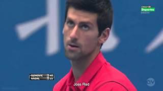 Novak Djokovic  best points against Rafael Nadal Part 1
