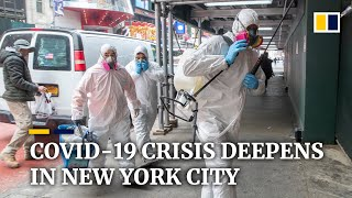 New York City death toll spikes to 385 as US becomes new epicentre of global coronavirus pandemic
