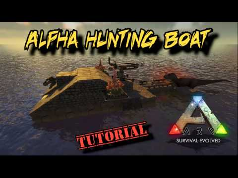 Alpha Dino Hunting Raft Tutorial - Ark Survival Evolved