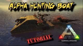 Alpha Dino Hunting Raft Tutorial - Ark Survival Evolved