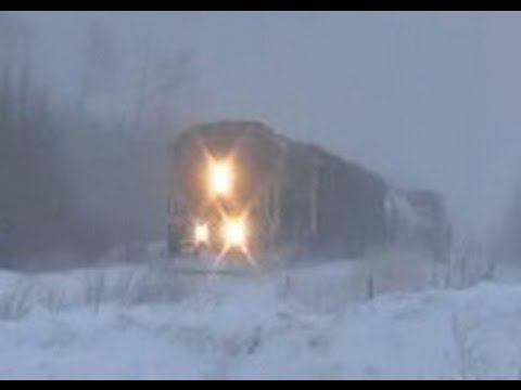(HD) Ontario Northland Freight 313 in the True North