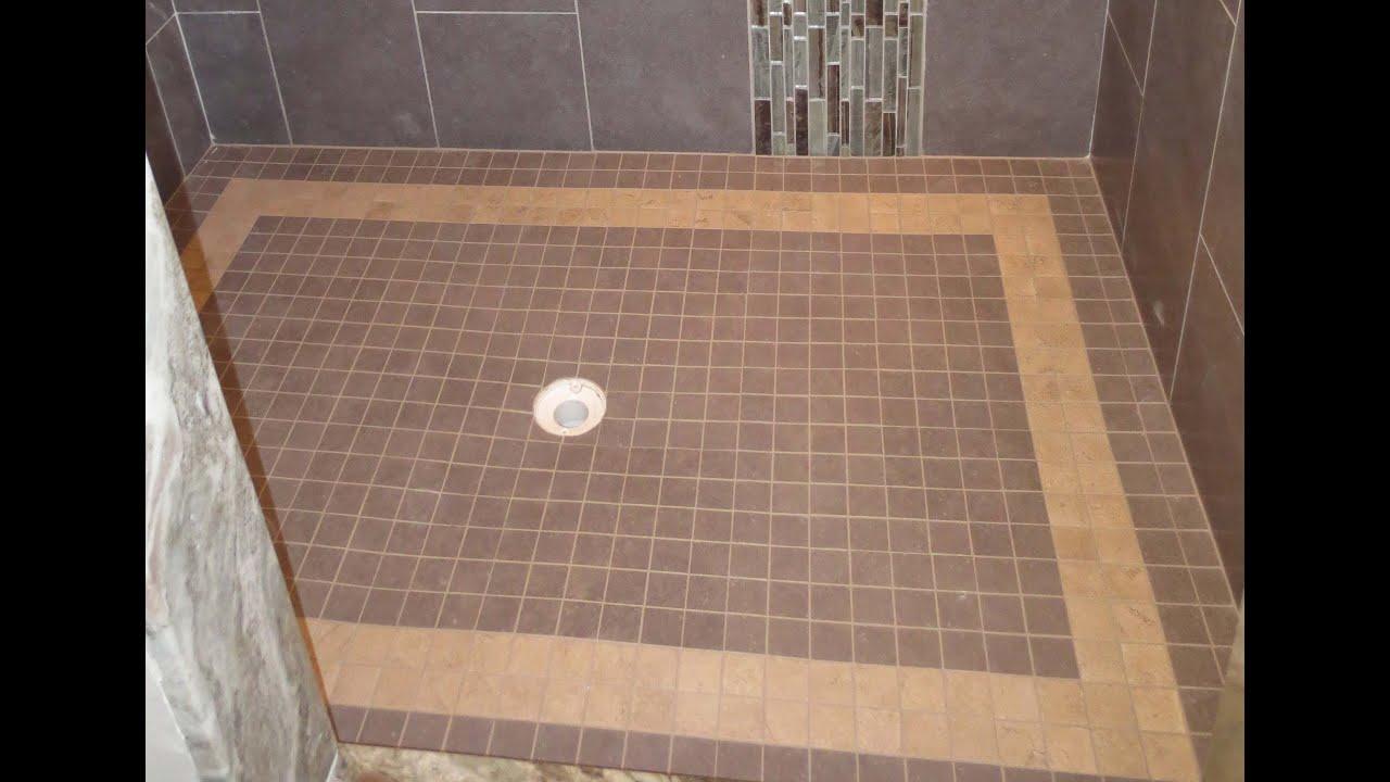 tile shower failure and repair part 3 installing shower floor tile