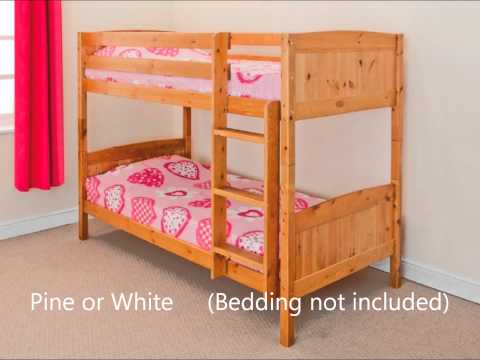 CHRISTOPHER BUNK BED COMFY LIVING FREE DELIVERY PINE OR WHITE