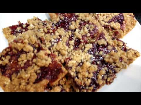 Delicious Raspberry oatmeal bars with coconut recipe!