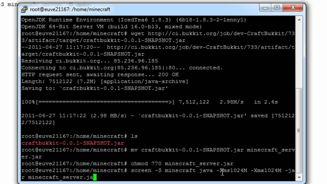 Minecraft Bukkit Server Unter Linux Tutorial Teil YouTube - Minecraft bukkit server unter linux erstellen