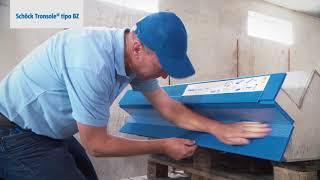 Pianerottoli con scale rettilinee. Il montaggio di Schöck Tronsole® tipi Z, BZ, L.