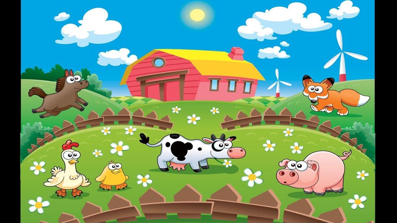 dessin animé des fermes pour les enfants - YouTube