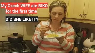 My Czech wife and daughter ate BIKO for the first time. Did they like