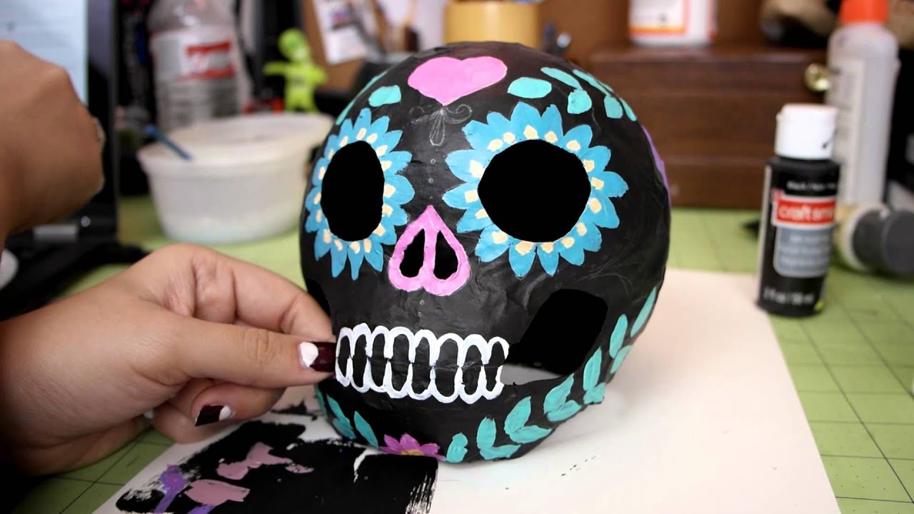 watch me make decorating paper mache halloween things
