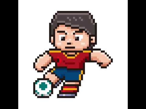 Pixel Art Joueur De Foot Youtube
