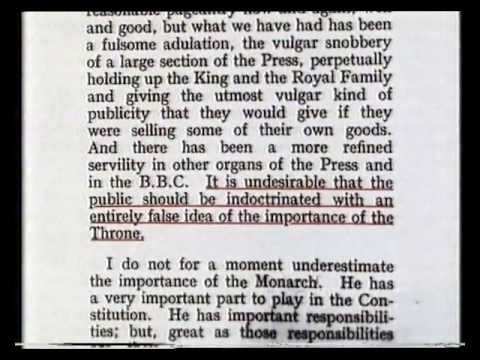 TOO MUCH Royal Broadcasting - Clement Attlee 1936
