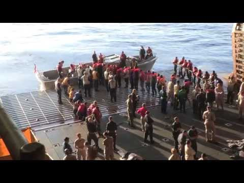 U.S. Navy Rescues 282 Souls From Sinking Vessel