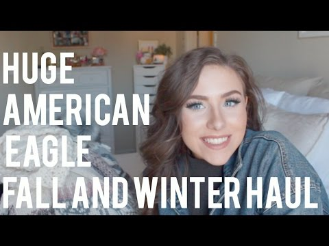 GIANT FALL & WINTER AMERICAN EAGLE HAUL & TRY ON