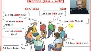 Learn German A1 -  Negation mit kein oder nicht