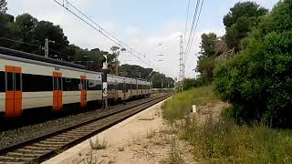 Euromed Talgo VII Valencia Nord Barcelona Sants traccionado por la 252061 por Montroig del Camp Tarr