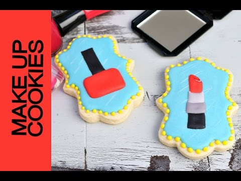 Lipstick And Nail Polish Decorated Cookies Haniela S