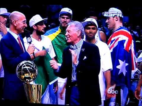 San Antonio Spurs 2014 NBA Championship Trophy Presentation