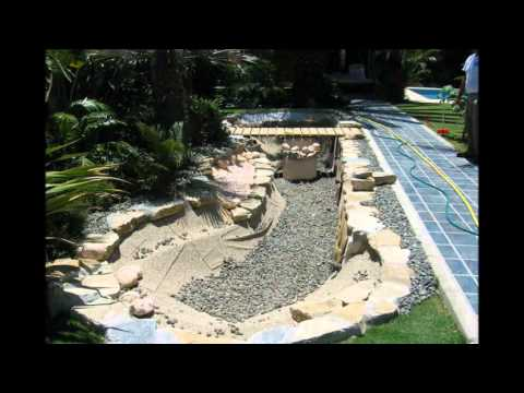 Meryva construcci n de lagos artificiales youtube for Estanques artificiales para jardin