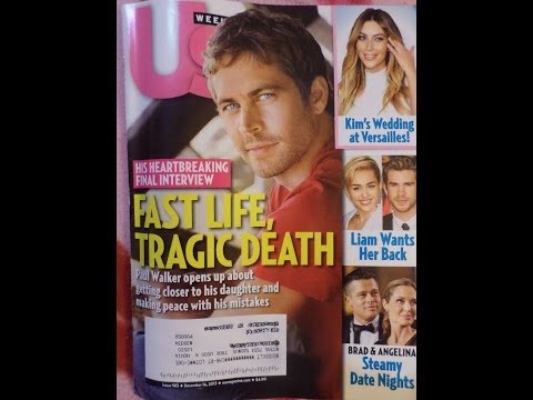 Paul Walker Us Weekly Magazine Review