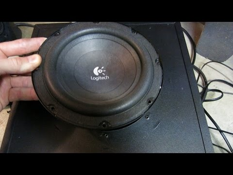 How to take apart logitech z623 subwoofer amp youtube how to take apart logitech z623 subwoofer amp swarovskicordoba Gallery