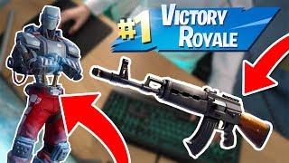NEW HUNTING PARTY SKIN & HEAVY AR (SOLO WIN) + KEYBOARD CAM (Fortnite Battle Royale)