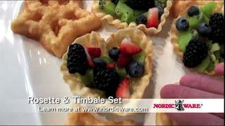 NordicWare Swedish Rosette Timbale & Cookie Set
