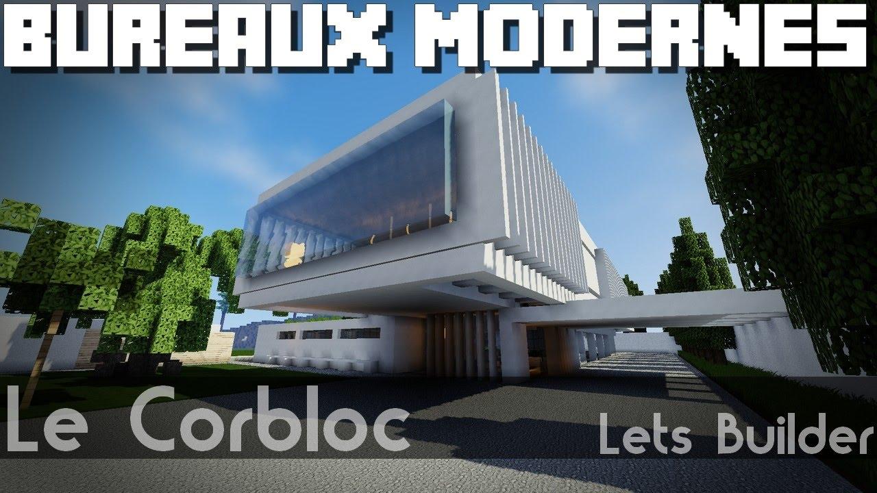 Minecraft  Immeuble De Bureaux Moderne Youtube