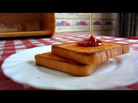 Как сделать хрустящие тосты без тостера. Гренки на завтрак