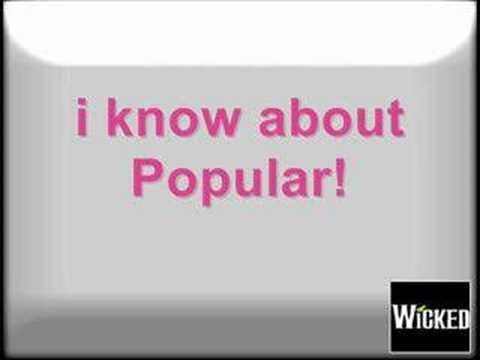 Wicked - Popular (Karaoke)