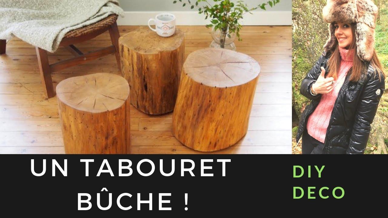 Table Basse Avec Souche D Arbre comment transformer une bûche de bois en tabouret ? #diy