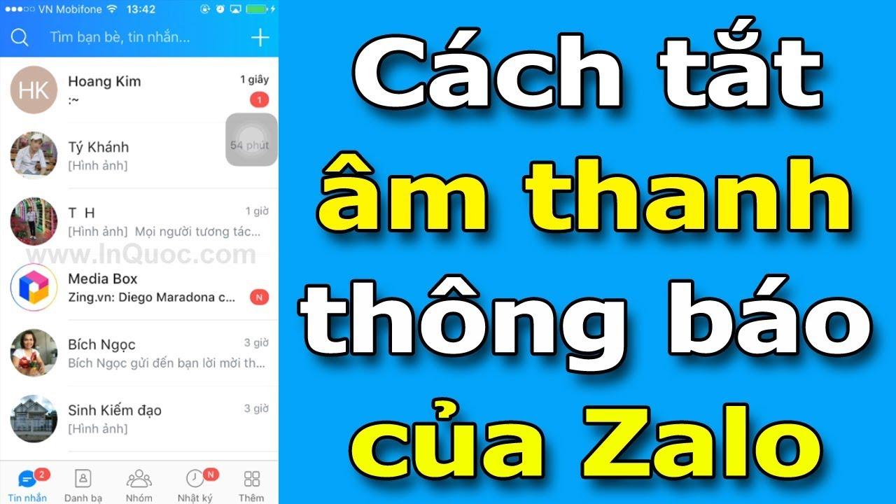 Hướng dẫn tắt âm thanh thông báo của Zalo