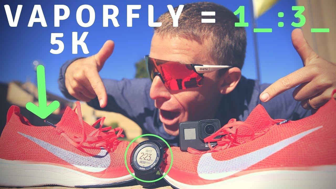8b2a69e7b43127 Nike Vaporfly 4% Flyknit 5k time trial
