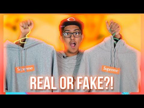 51390637 Supreme Box Logo Hoodie Real Vs Fake FW 2017 ! (CRAZIEST REPLICA !) -  YouTube