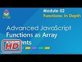 [Javascript Tutorial] Advanced JavaScript - Module 02 - Part 08 - Functions as Array Elements
