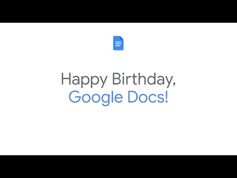 Happy 15th Birthday, Google Docs!