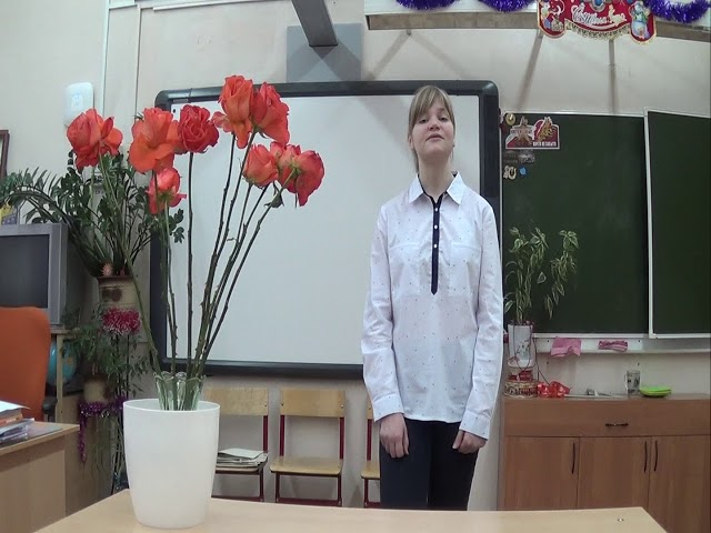 Изображение предпросмотра прочтения – ОльгаКурочкина читает отрывок изпроизведения «Пушкинскому дому» А.А.Блока