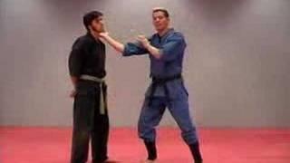 Rick Tew Ninja Training with Knife Hand Strike
