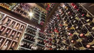 Modern Wine Cellar featuring Cable Wine System, 'Condominium Design'