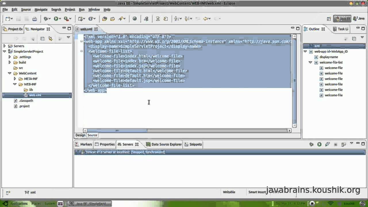 Jsps and servlets tutorial 02 first servlet part 1 youtube baditri Gallery