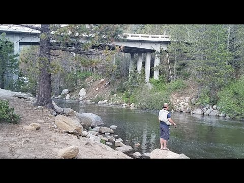 Low Kicking the trouts at Huntington Lake